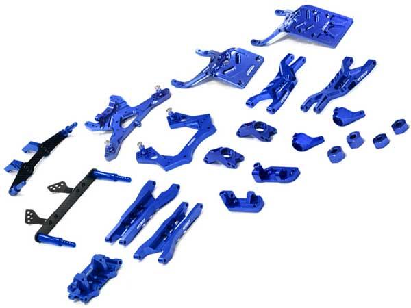 Integy RC Model Hop-ups T8651SILVER Billet Machined T3 Complete Suspension Kit for 1//10 Stampede 2WD